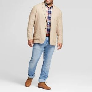 Goodfellow & Co Standard Fit linen Blazer - Tan